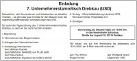 Einladung 7. Unternehmerstammtisch Drebkau (USD)